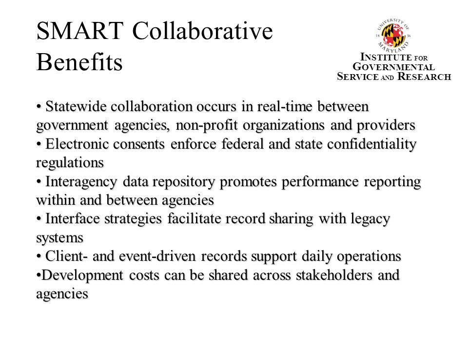 SMART Collaborative Benefits