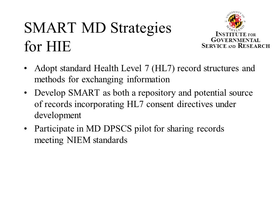 SMART MD Strategies for HIE