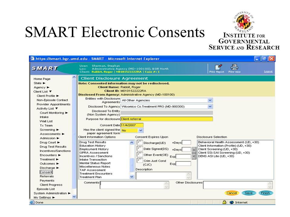 SMART Electronic Consents