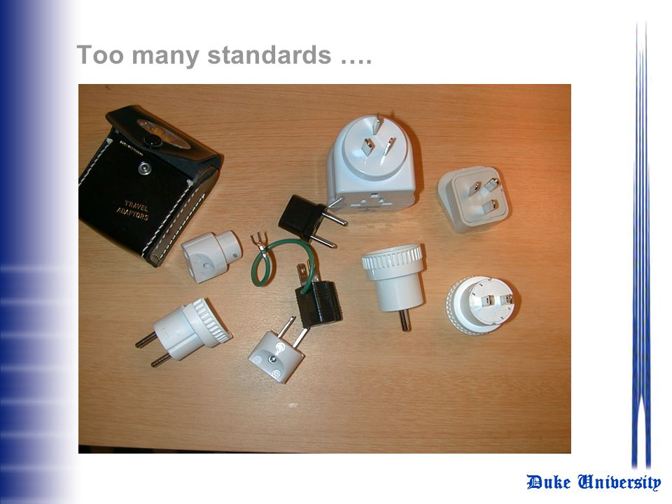 Too many standards ….