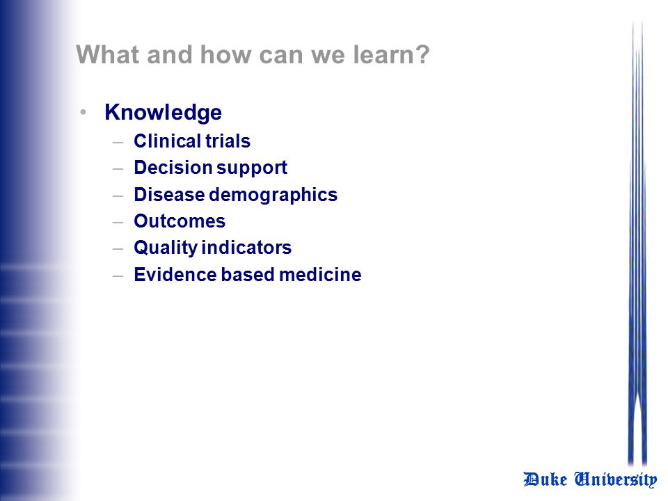 What and how can we learn