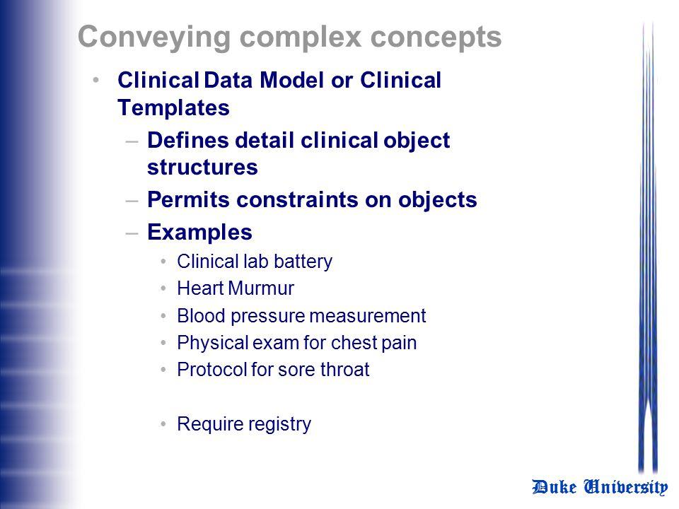 Conveying complex concepts