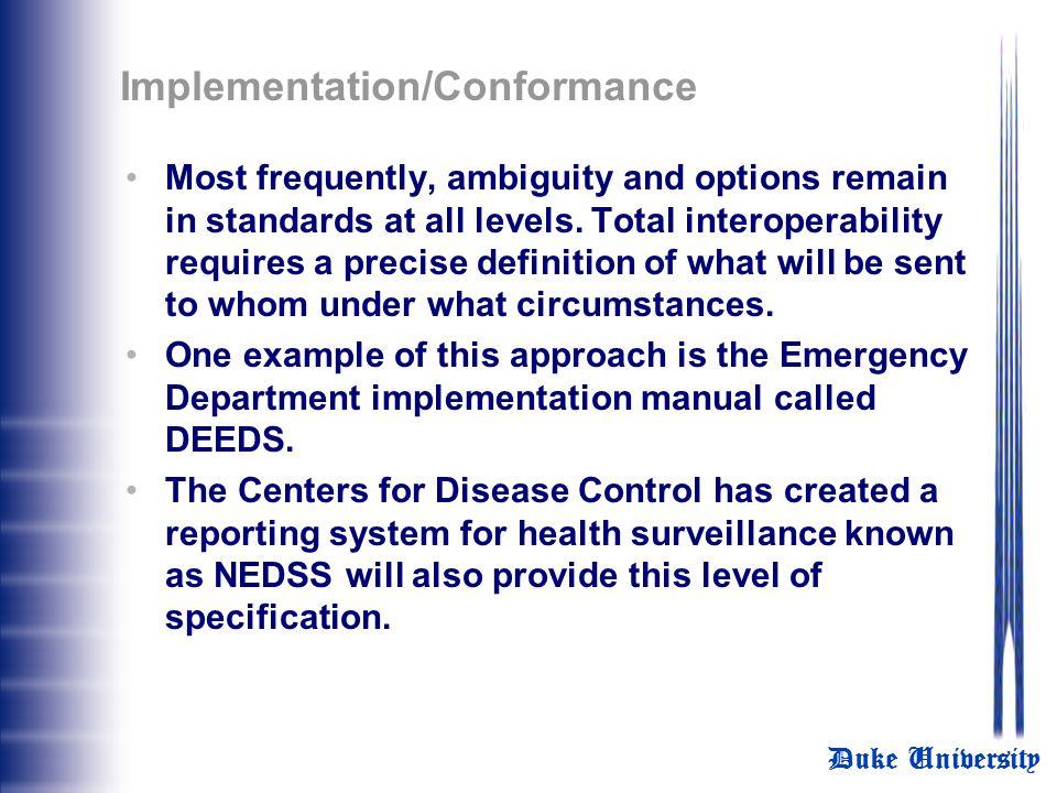Implementation/Conformance