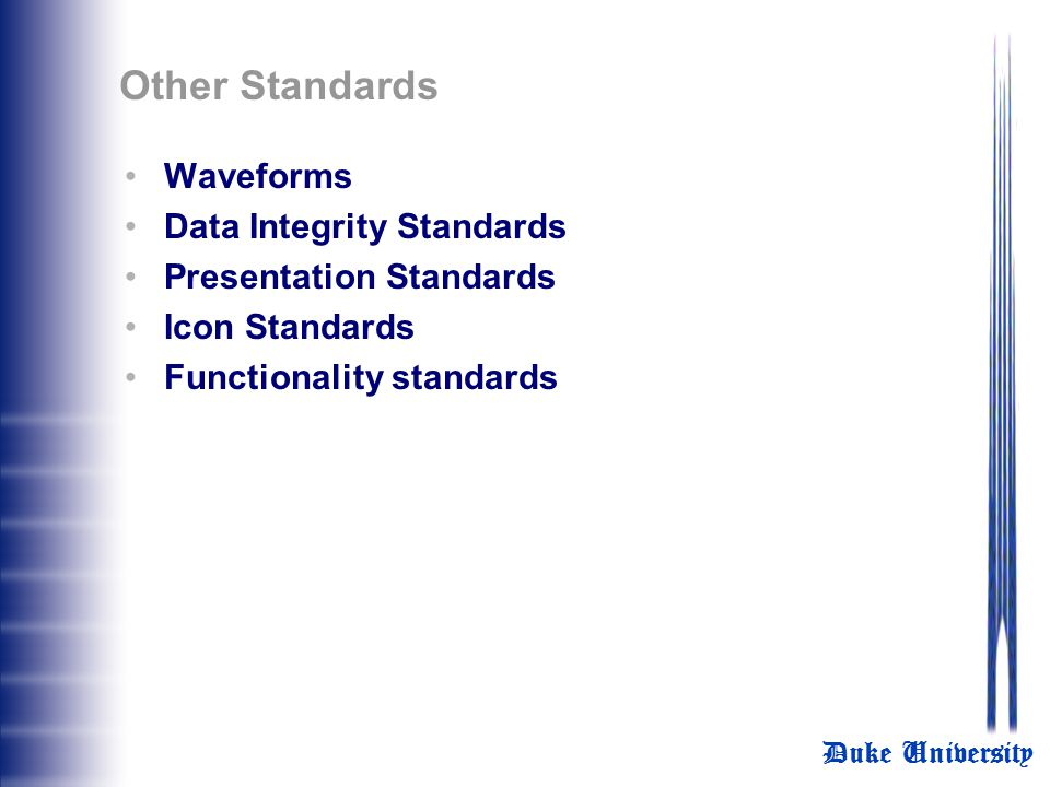 Other Standards Waveforms Data Integrity Standards