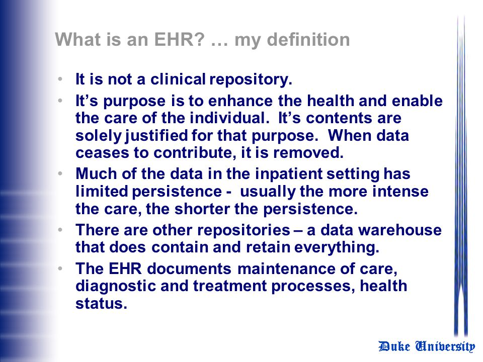 What is an EHR … my definition