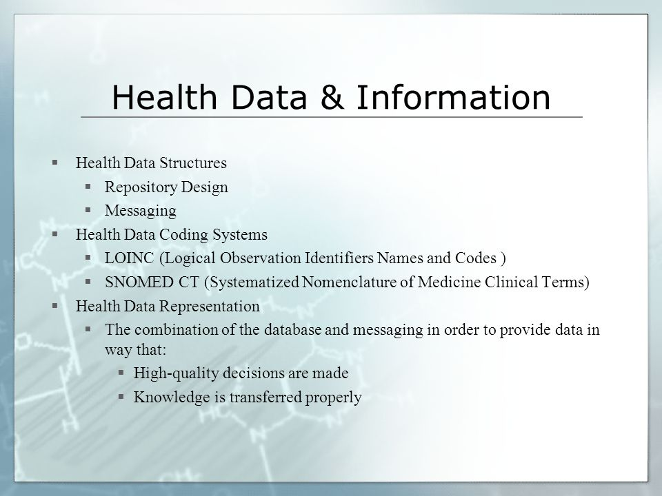 Health Data & Information