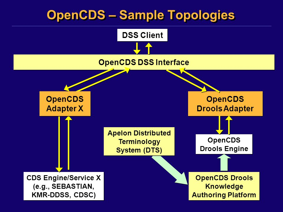 OpenCDS – Sample Topologies