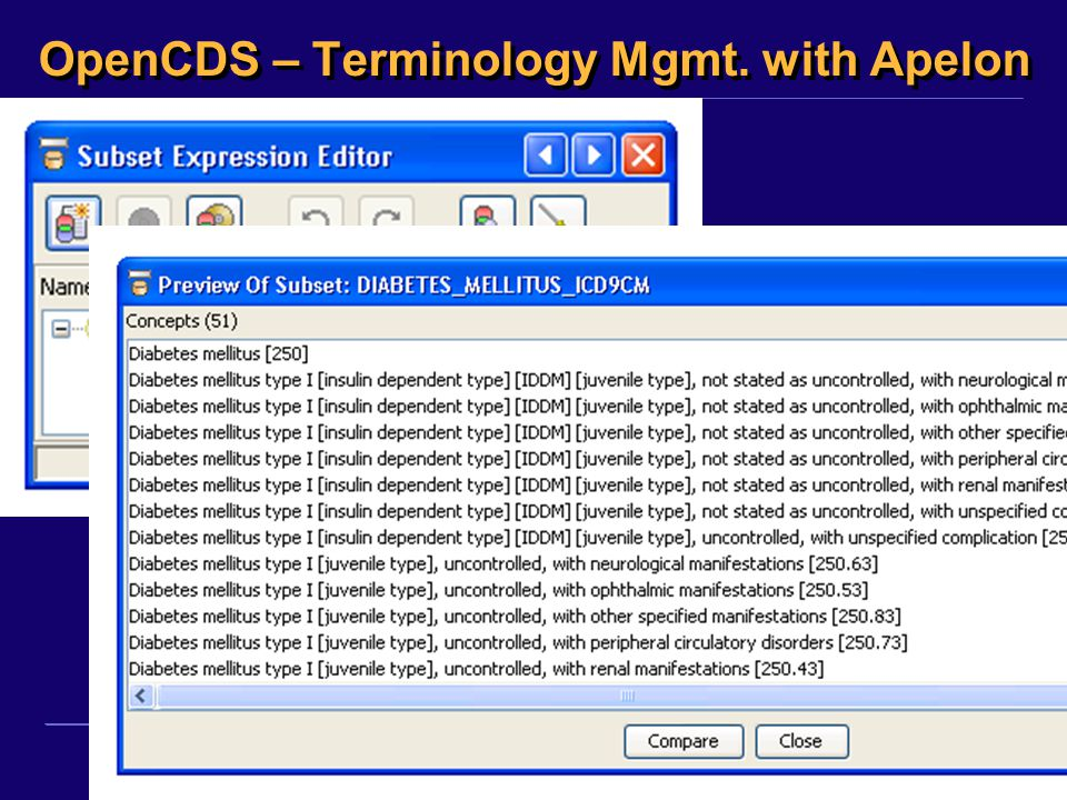 OpenCDS – Terminology Mgmt. with Apelon
