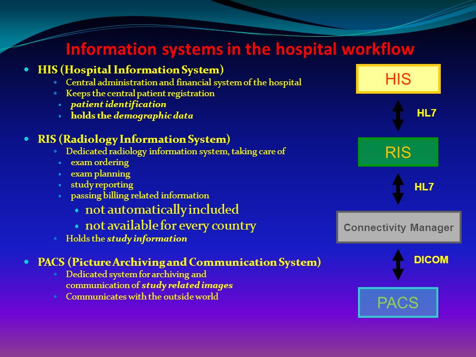Information systems in the hospital workflow