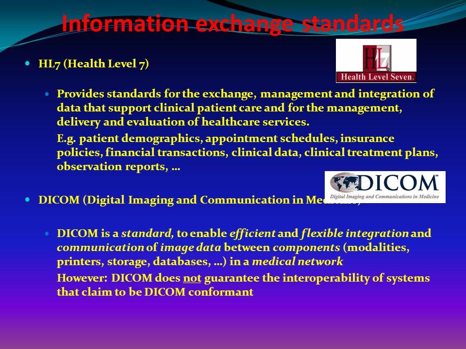 Information exchange standards