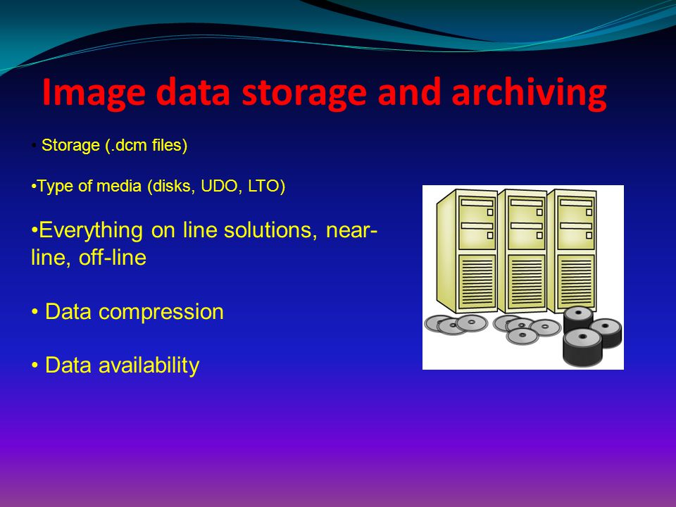 Image data storage and archiving