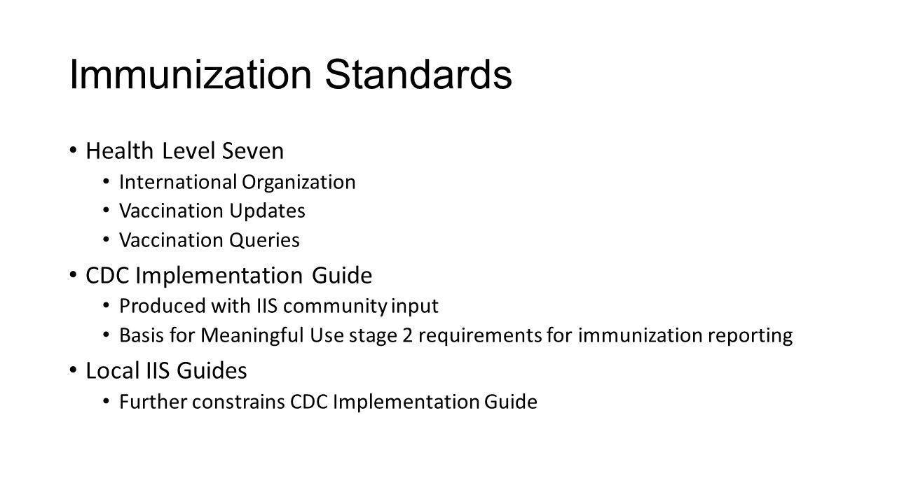 Immunization Standards