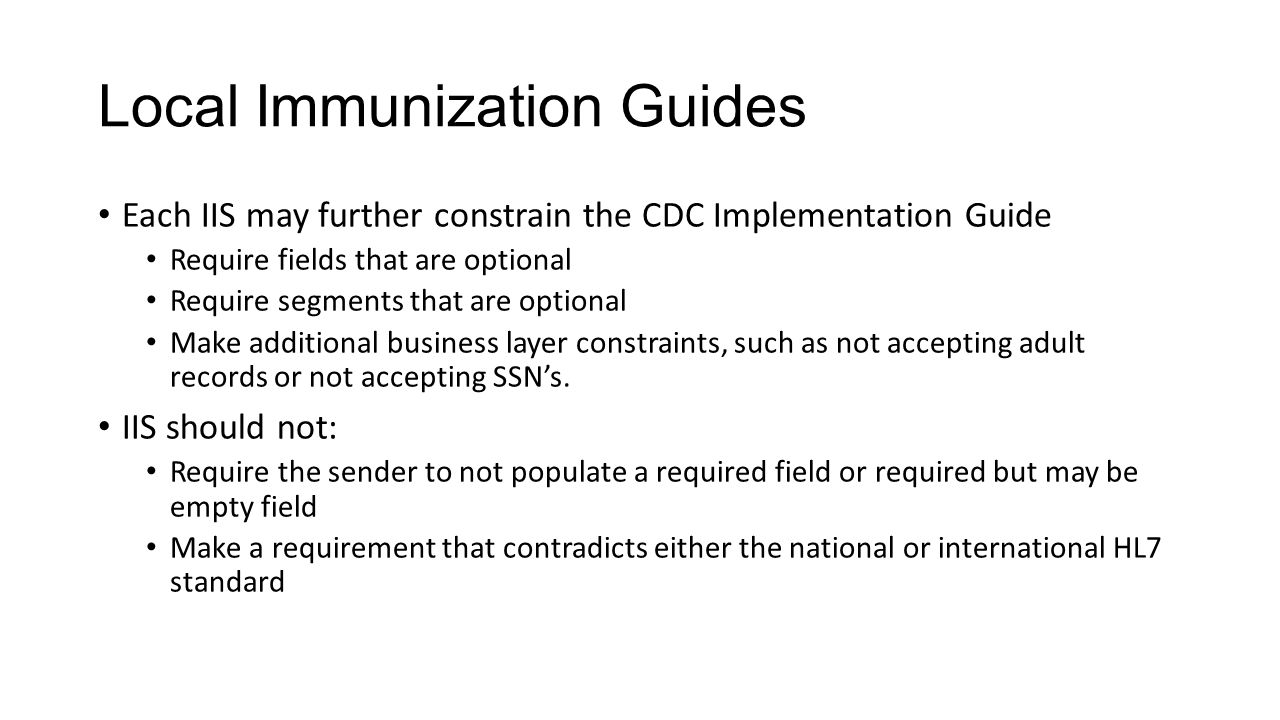 Local Immunization Guides
