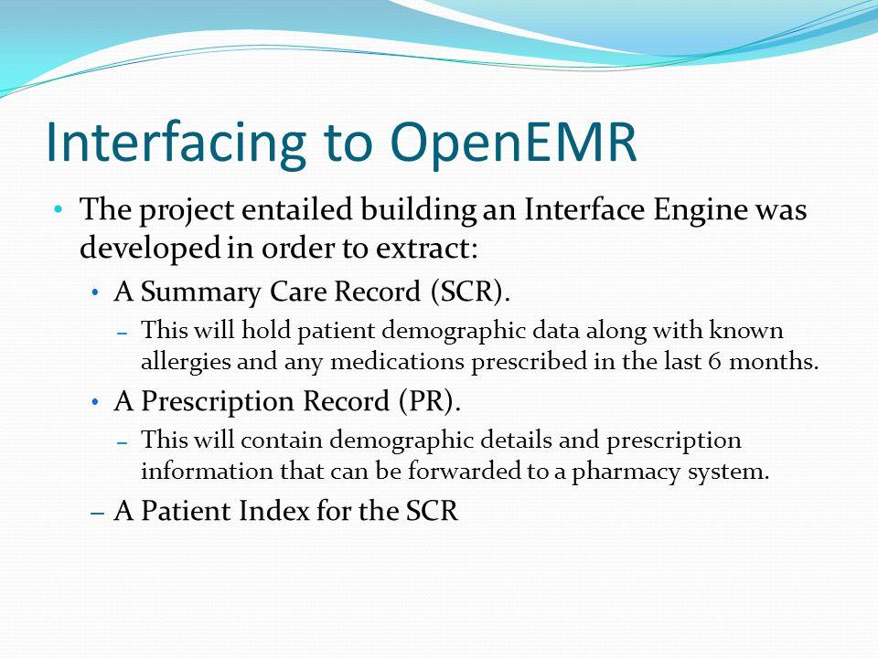 Interfacing to OpenEMR