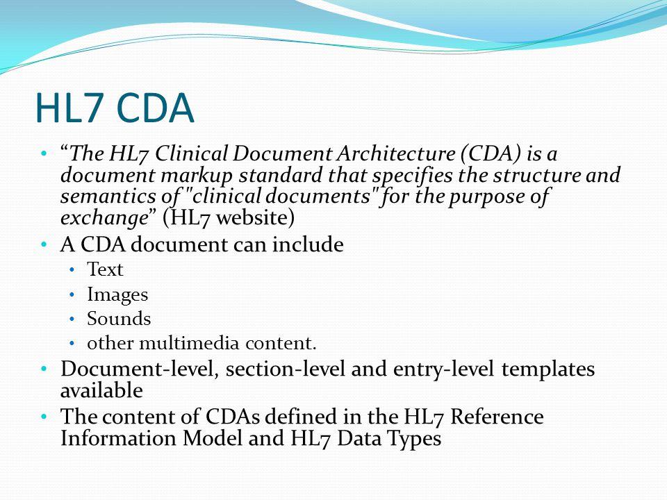 HL7 CDA