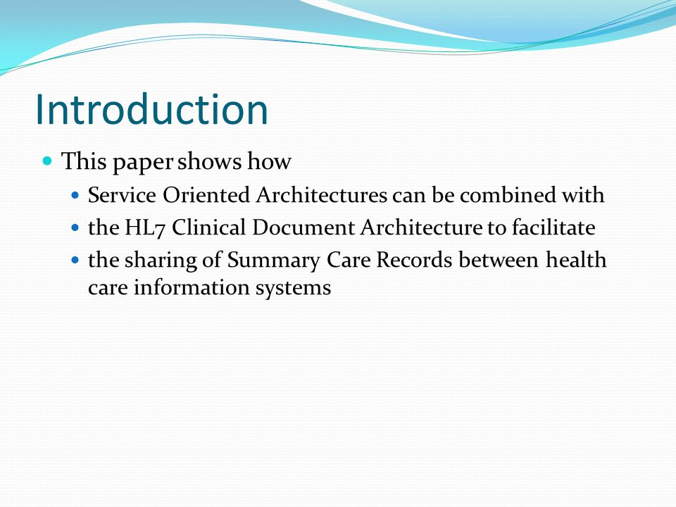 Introduction This paper shows how