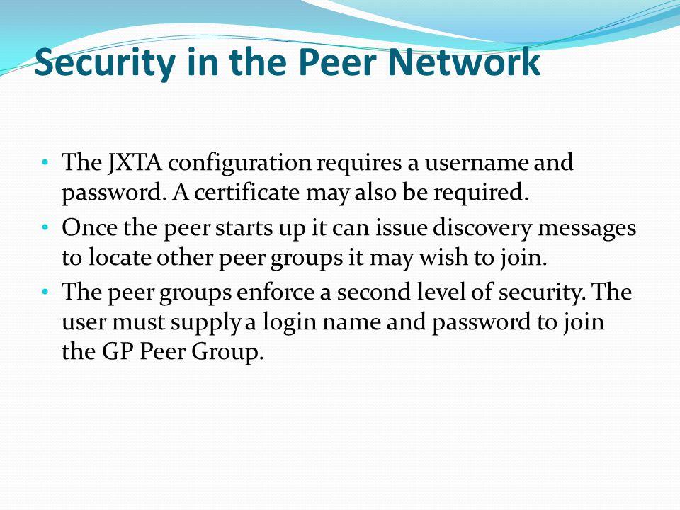 Security in the Peer Network