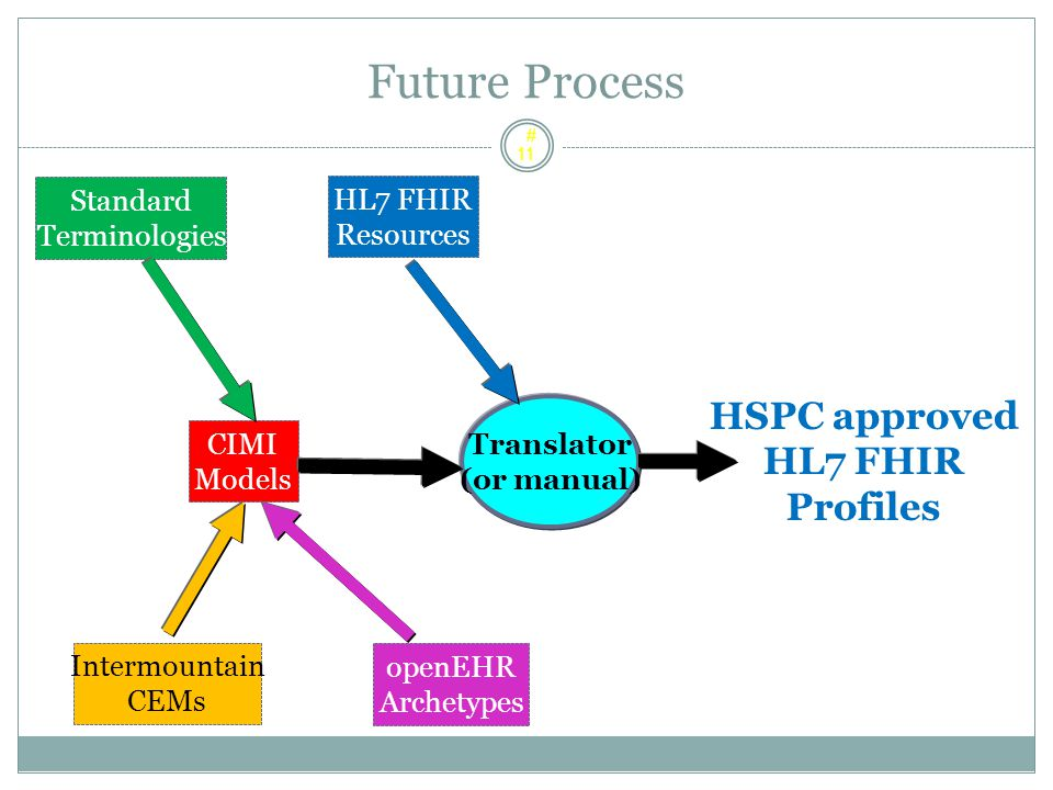 Future Process HSPC approved HL7 FHIR Profiles Standard HL7 FHIR