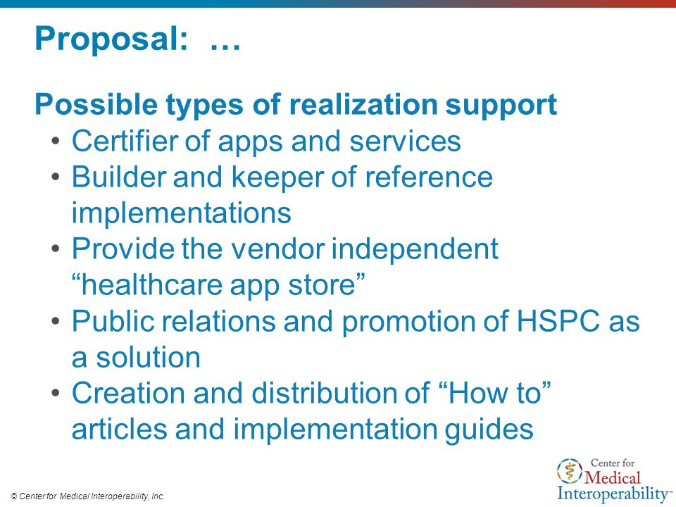 Proposal: … Possible types of realization support
