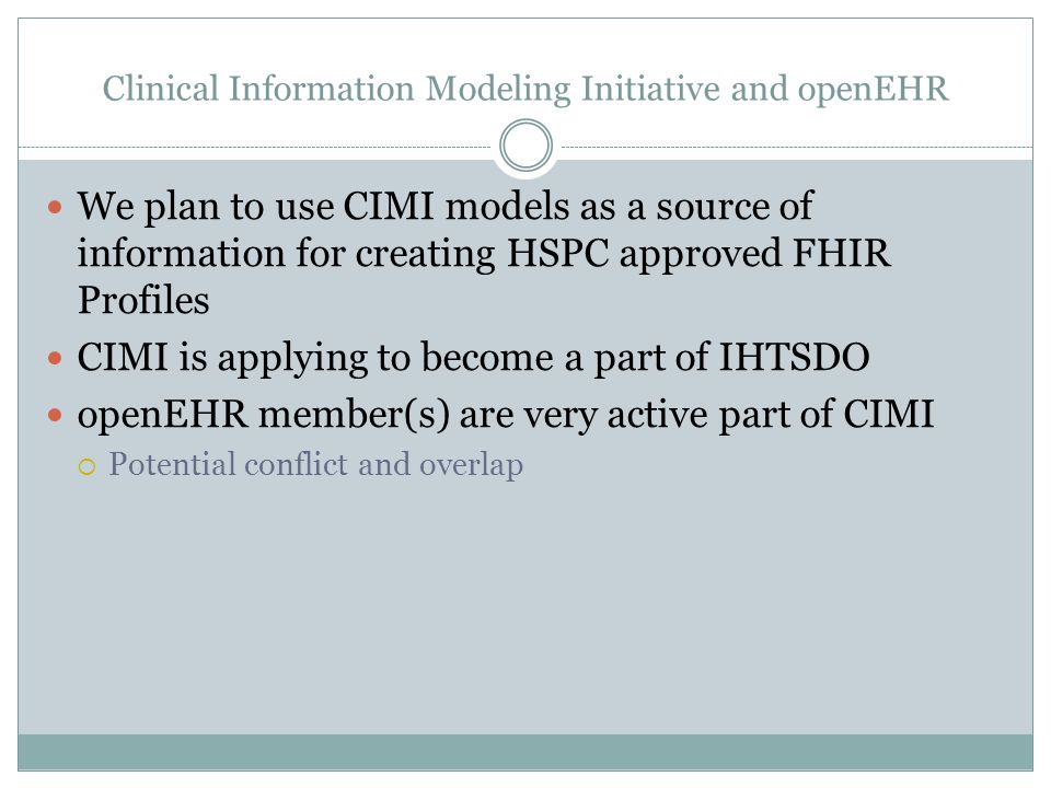 Clinical Information Modeling Initiative and openEHR