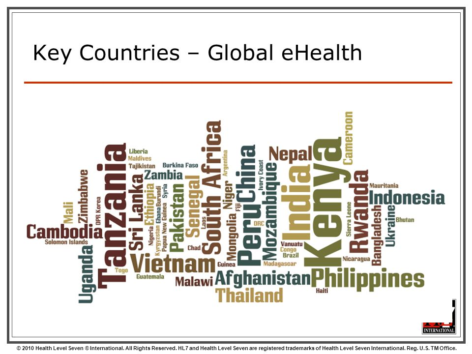 Key Countries – Global eHealth