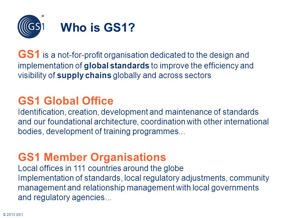 Who is GS1