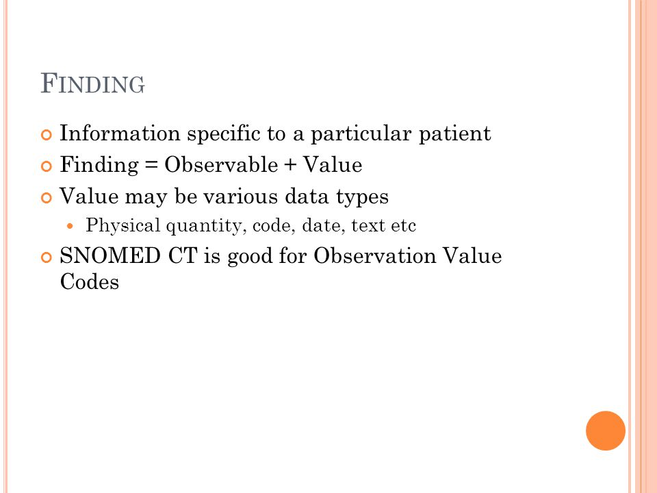 Finding Information specific to a particular patient