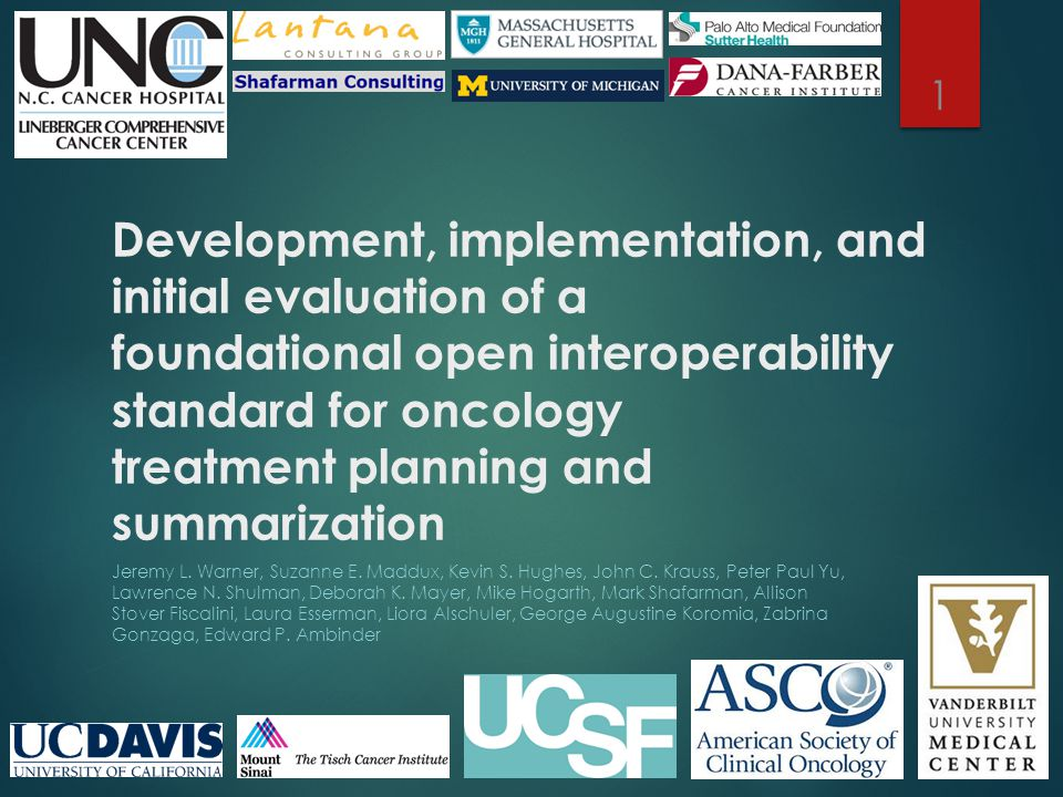 Development, implementation, and initial evaluation of a foundational open interoperability standard for oncology treatment planning and summarization