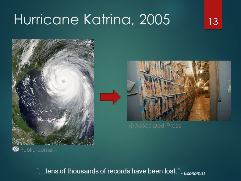 Hurricane Katrina, 2005 © Associated Press. Public domain.