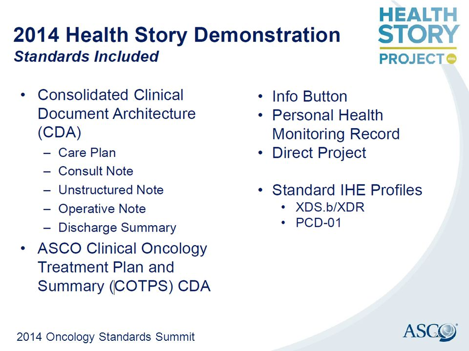 2014 Oncology Standards Summit