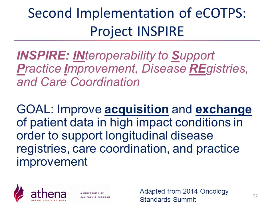 Second Implementation of eCOTPS: Project INSPIRE