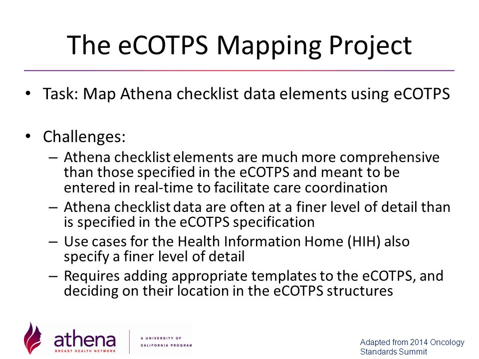 The eCOTPS Mapping Project