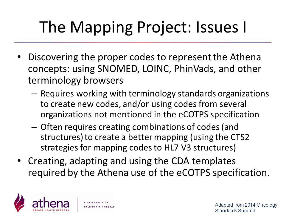 The Mapping Project: Issues I