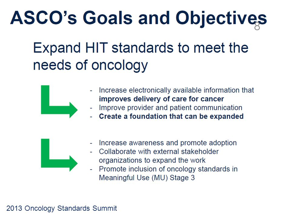 2013 Oncology Standards Summit