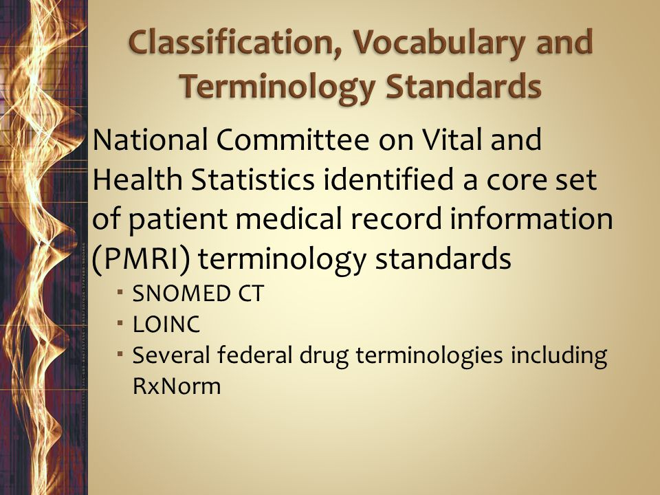 Classification, Vocabulary and Terminology Standards
