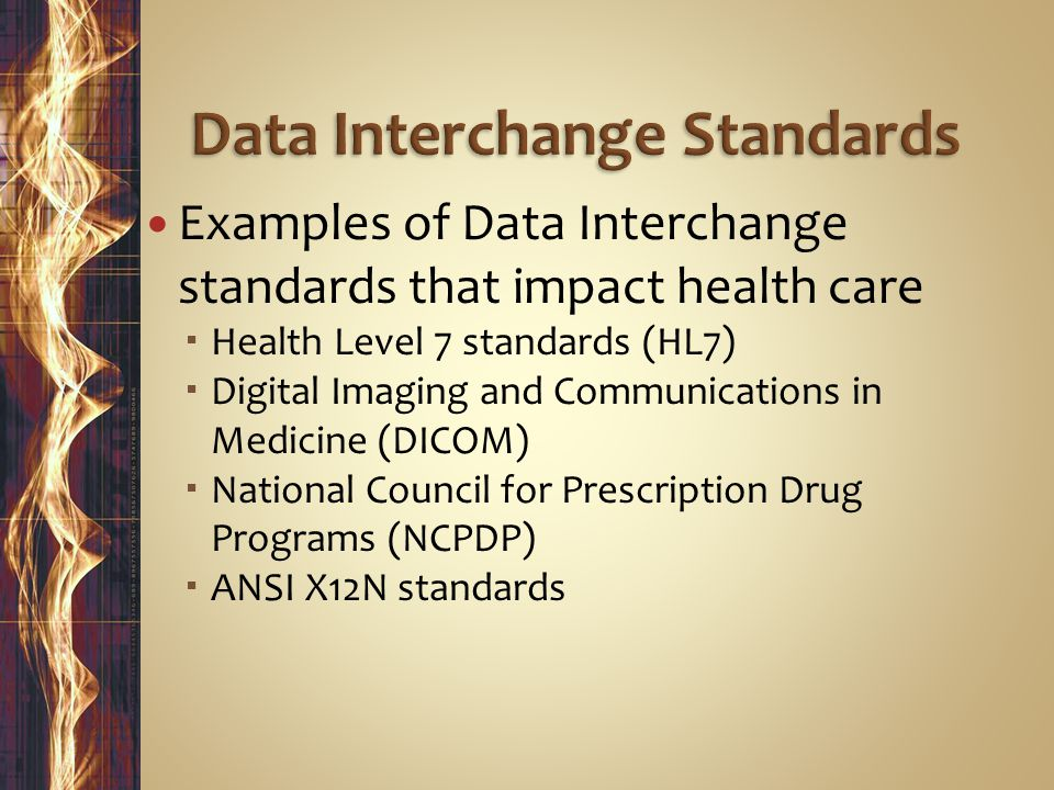 Data Interchange Standards