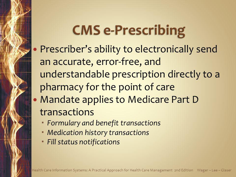 CMS e-Prescribing