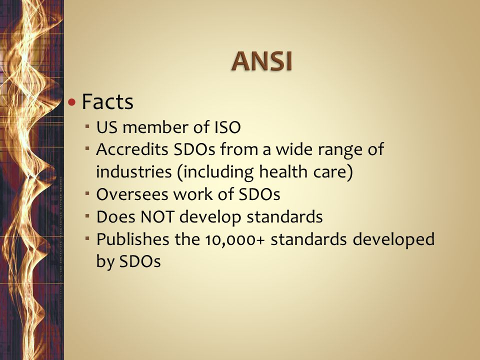 ANSI Facts US member of ISO