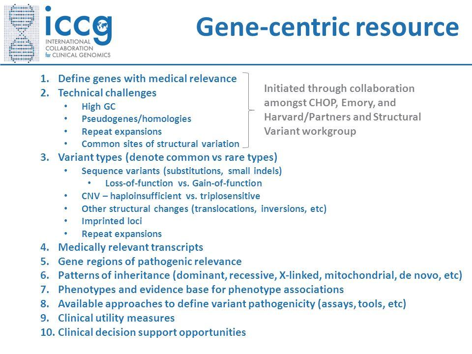 Gene-centric resource