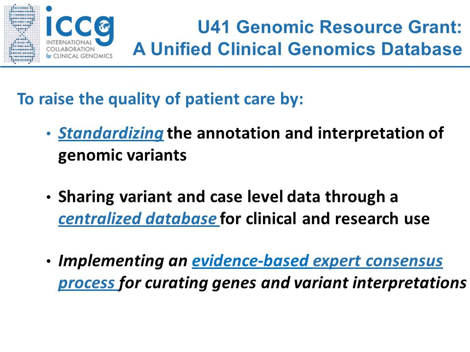 U41 Genomic Resource Grant: