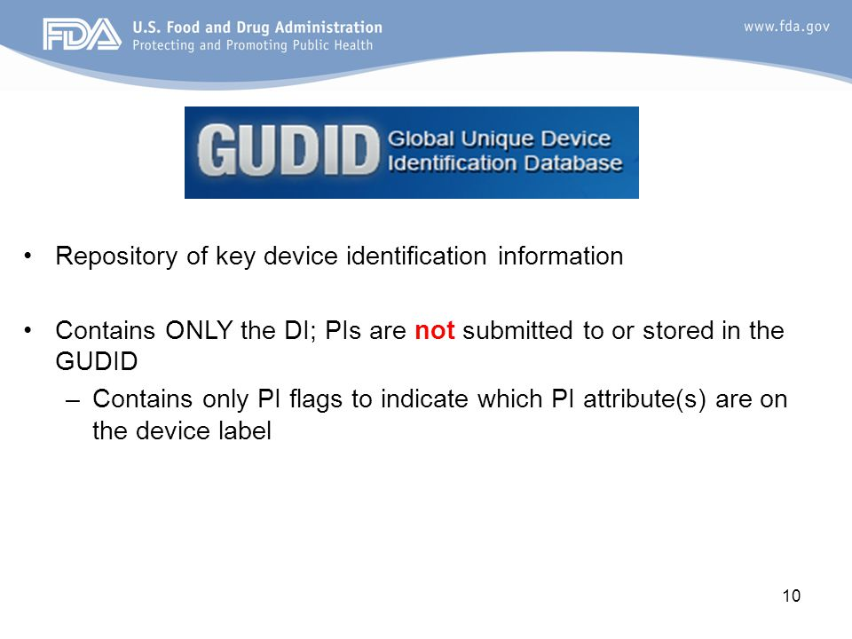 Repository of key device identification information