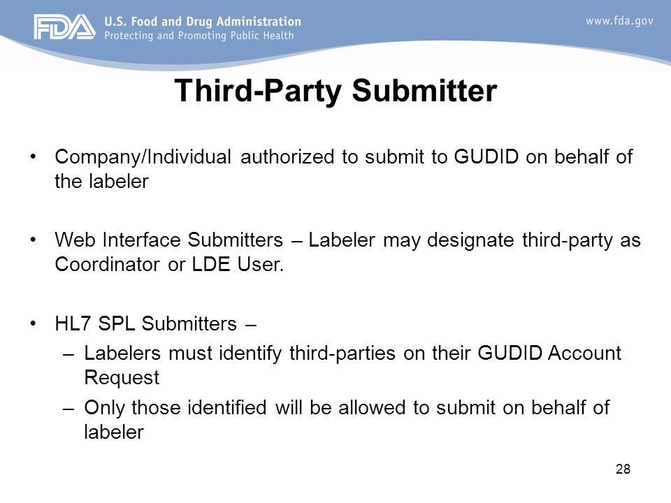 Third-Party Submitter