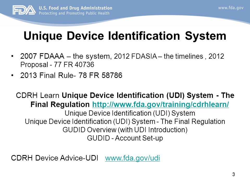 Unique Device Identification System