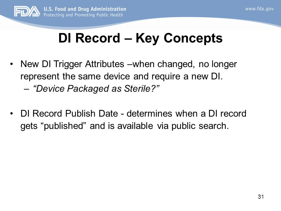DI Record – Key Concepts