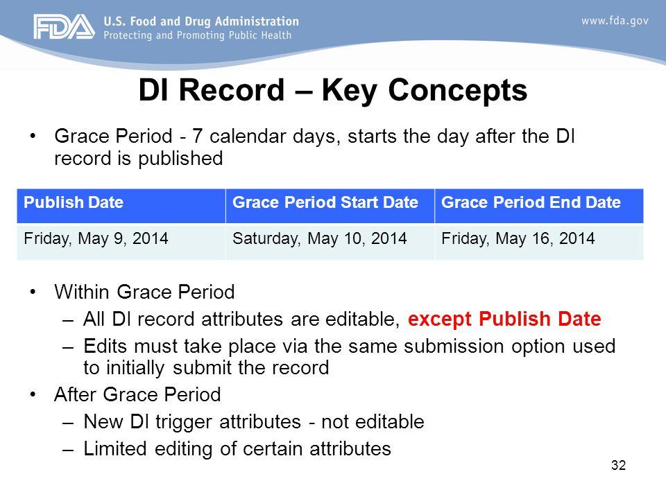 DI Record – Key Concepts