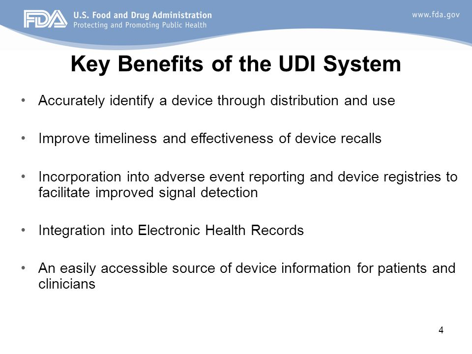 Key Benefits of the UDI System