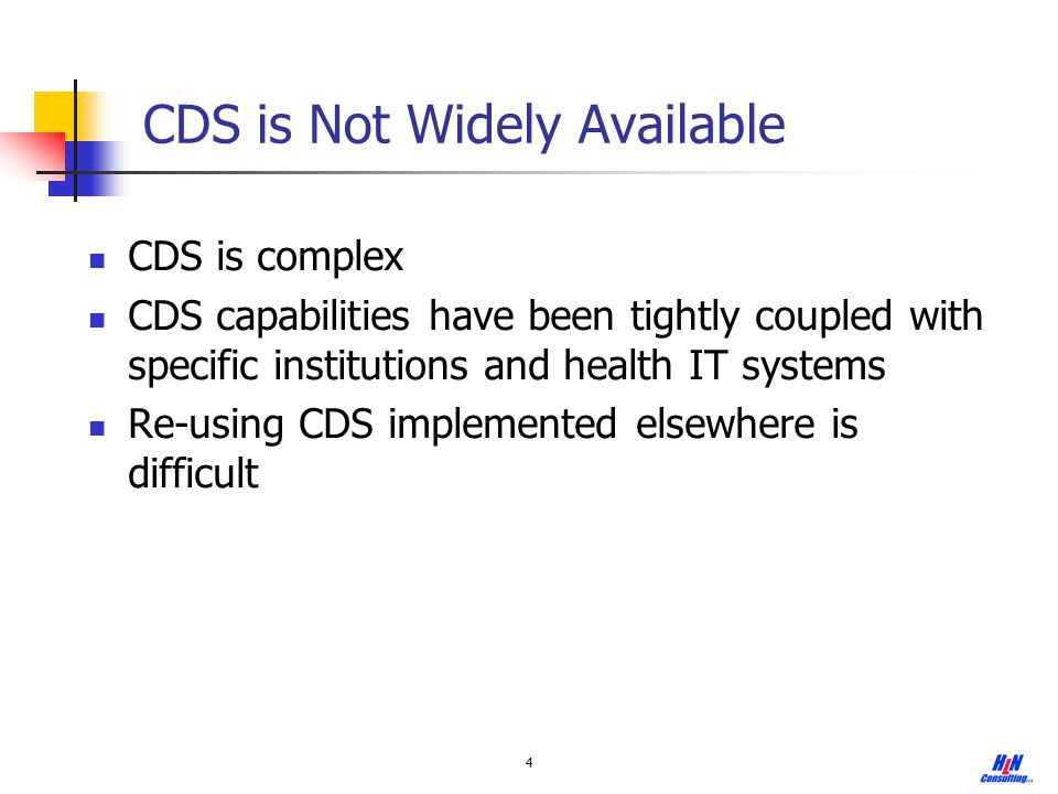 CDS is Not Widely Available
