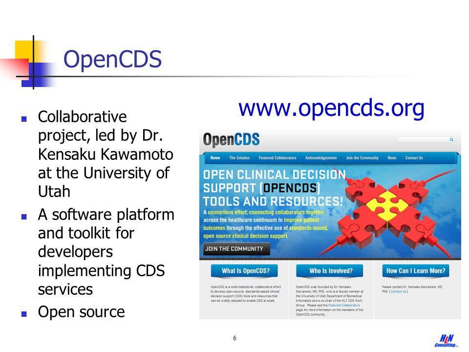 OpenCDS www.opencds.org