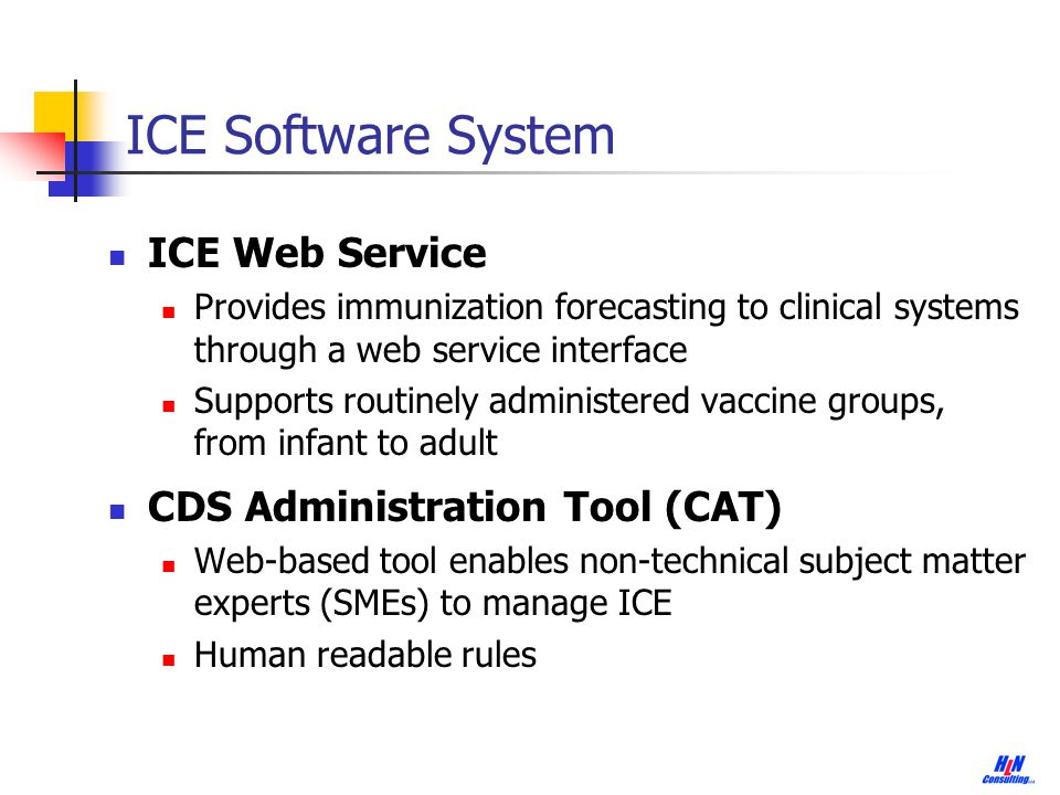 ICE Software System ICE Web Service CDS Administration Tool (CAT)