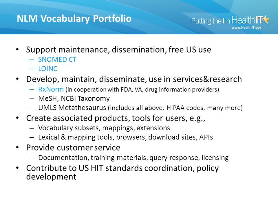 NLM Vocabulary Portfolio